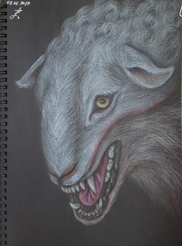 Фото тату волка в овечьей шкуре