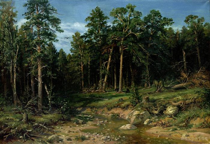 """... с картины И.Шишкина """"Сосновый бор.  Мачтовый лес в Вятской губернии"""