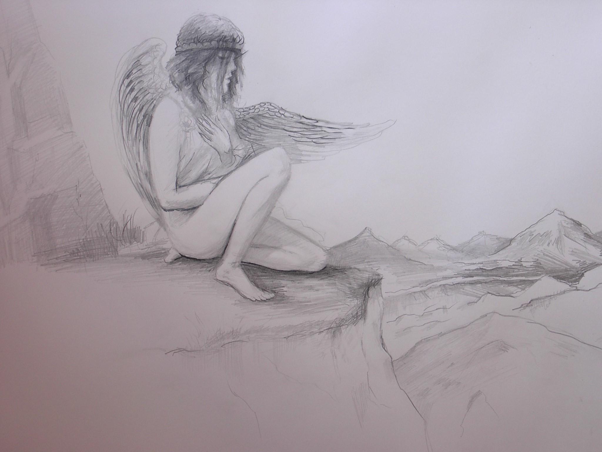 Рисунок одинокой девушки 23 фотография