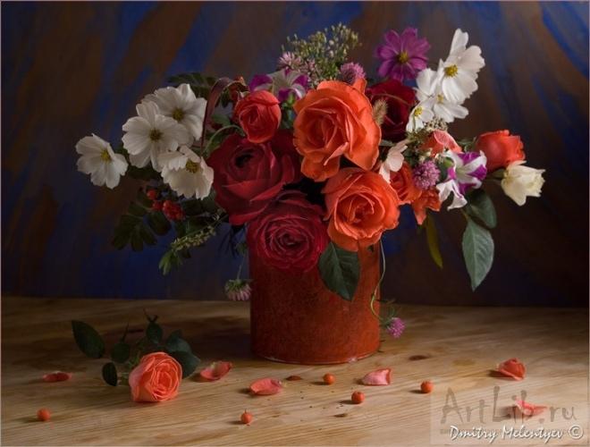 Букет цветов натюрморт