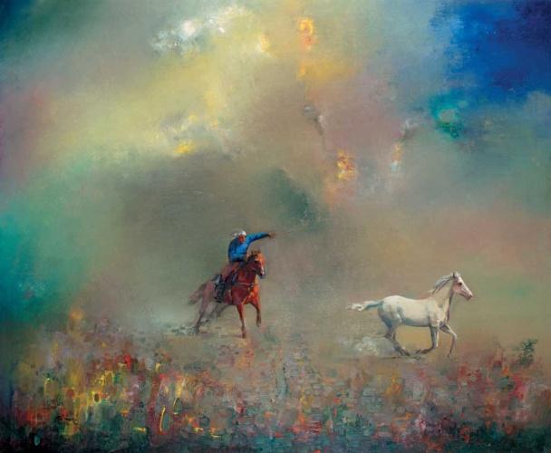 картина о жубаниязова ловля лошади