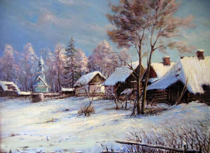 Текст зимний пейзаж юрий вириждников