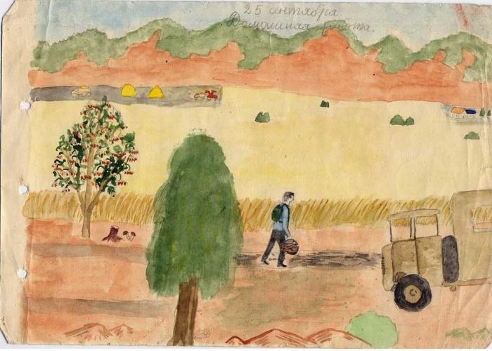 праздник урожая рисунок карандашом