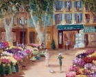 Экс-ан-Прованс.  Цветочный рынок.  Аннотация: Работа оформлена.