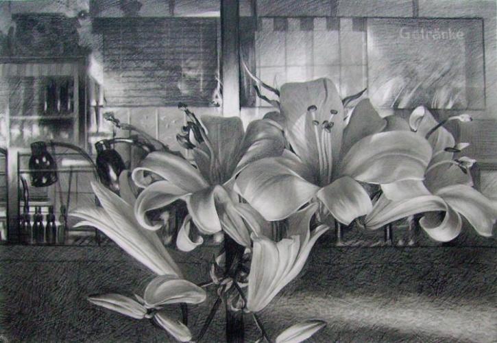 Цветок карандашом картинки 4