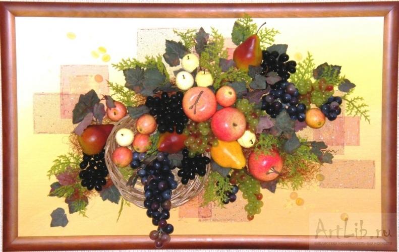 Картина из искусственных фруктов своими руками