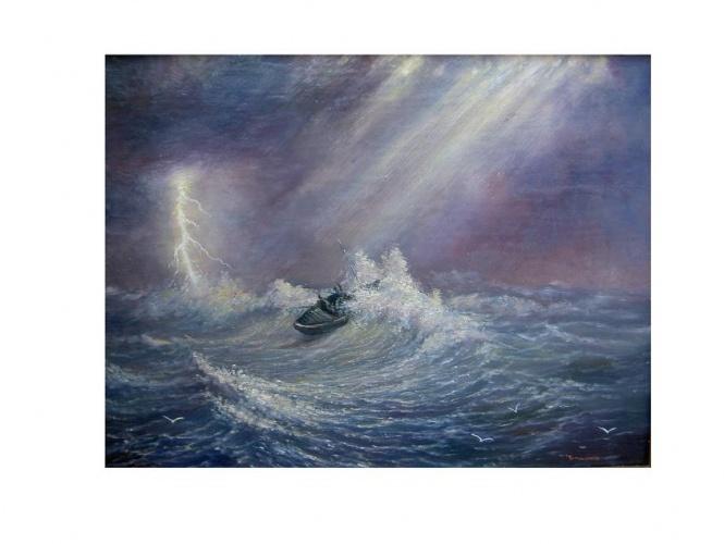 Рыбак в шторме