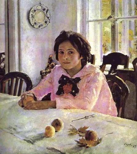 Валентин Серов картина Девочка с персиками.