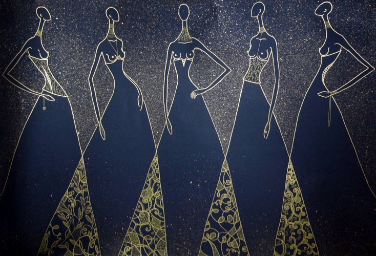 платья на выпускной черное длинное