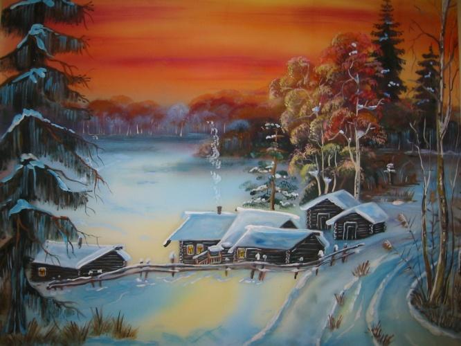 Рисунки простые пейзажи учимся