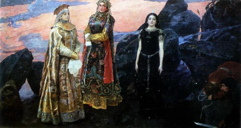 На голове царицы с картины васнецова