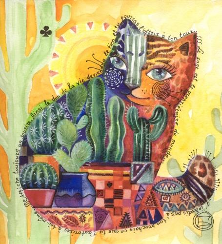 Разноцветные коты (автор Оксана Заика) .