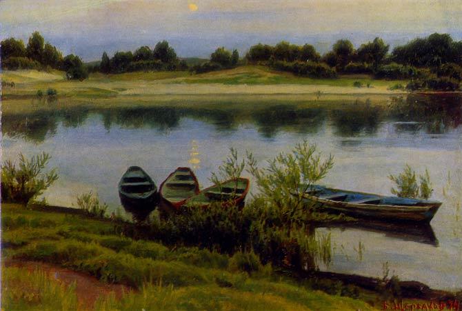 лодки в живописи: