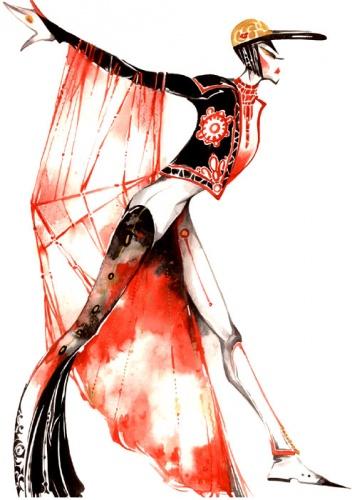 Описание: эскизы моделей женской одежды.