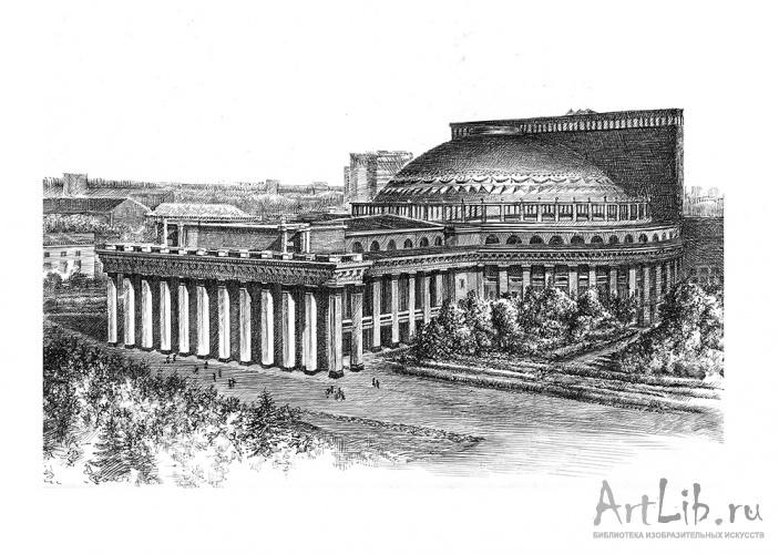 рисунки оперный театр новосибирск