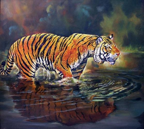 тигры живопись: