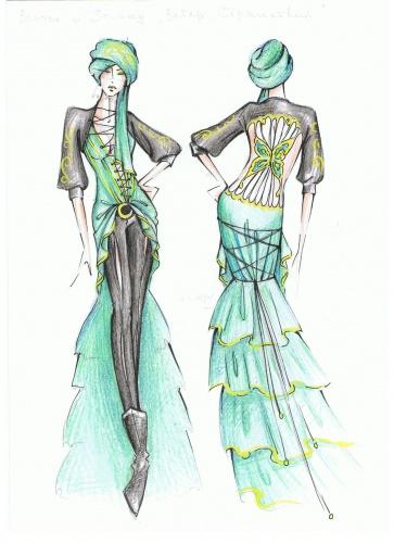 Дизайнерские эскизы одежды