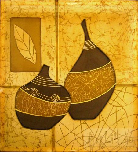 Декоративный натюрморт с вазами