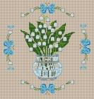 Категория: Цветы Просмотров: 438 Дата.  Вышивка крестиком - Ландыши.  07.12.2011.