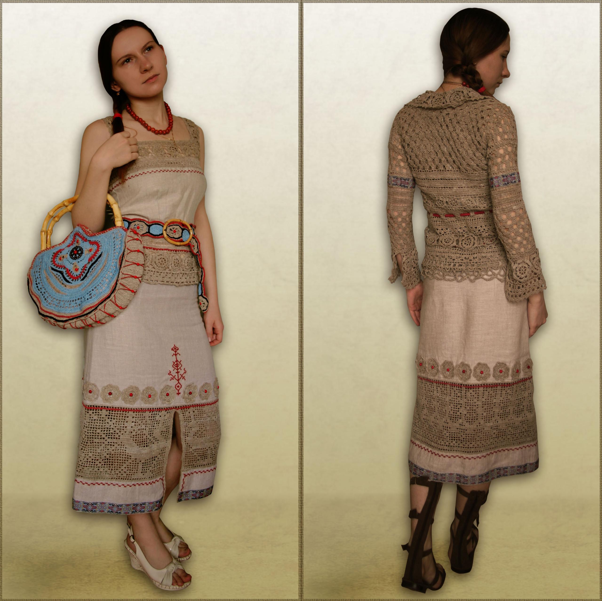 Платье в стиле фолк.