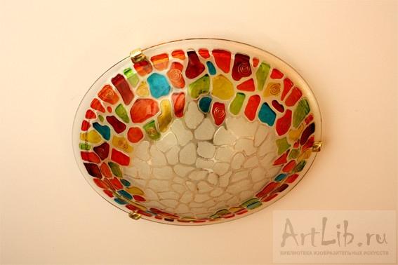 Декор стеклянного плафона своими руками
