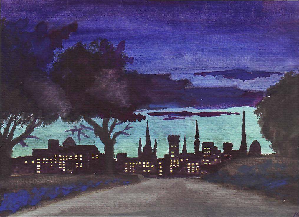 Ночь над городом схема вышивки 69