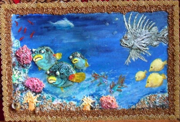 Панно морское дно фото