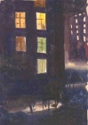 Аннотация: Этюд, написанный из окна на ул. Строителей в Москве.  Размеры: 21 х 31 см. Техника: Бумага, гуашь...