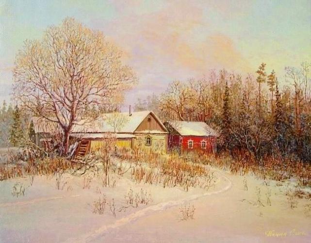 Зимы волшебная краса на полотнах