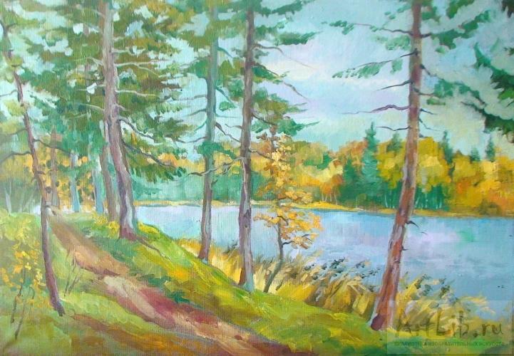 живопись золотая осень: