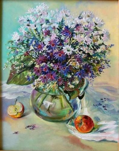 Стеклянные картины цветы