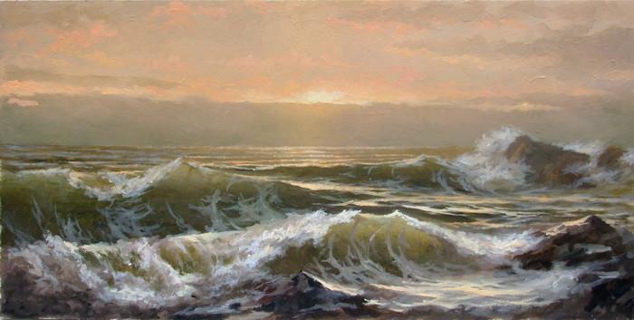 Живопис пейзаж пейзаж моря фото