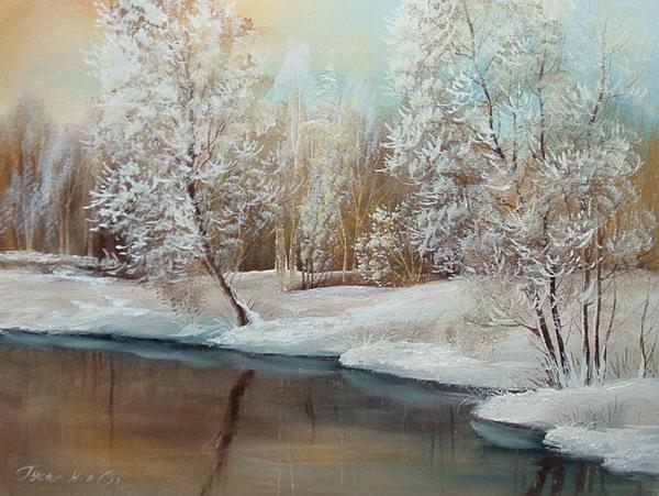 Художник работает в различных жанрах: пейзаж, натюрморт.  Владеет техникой батика.  В последние годы кроме живописи...