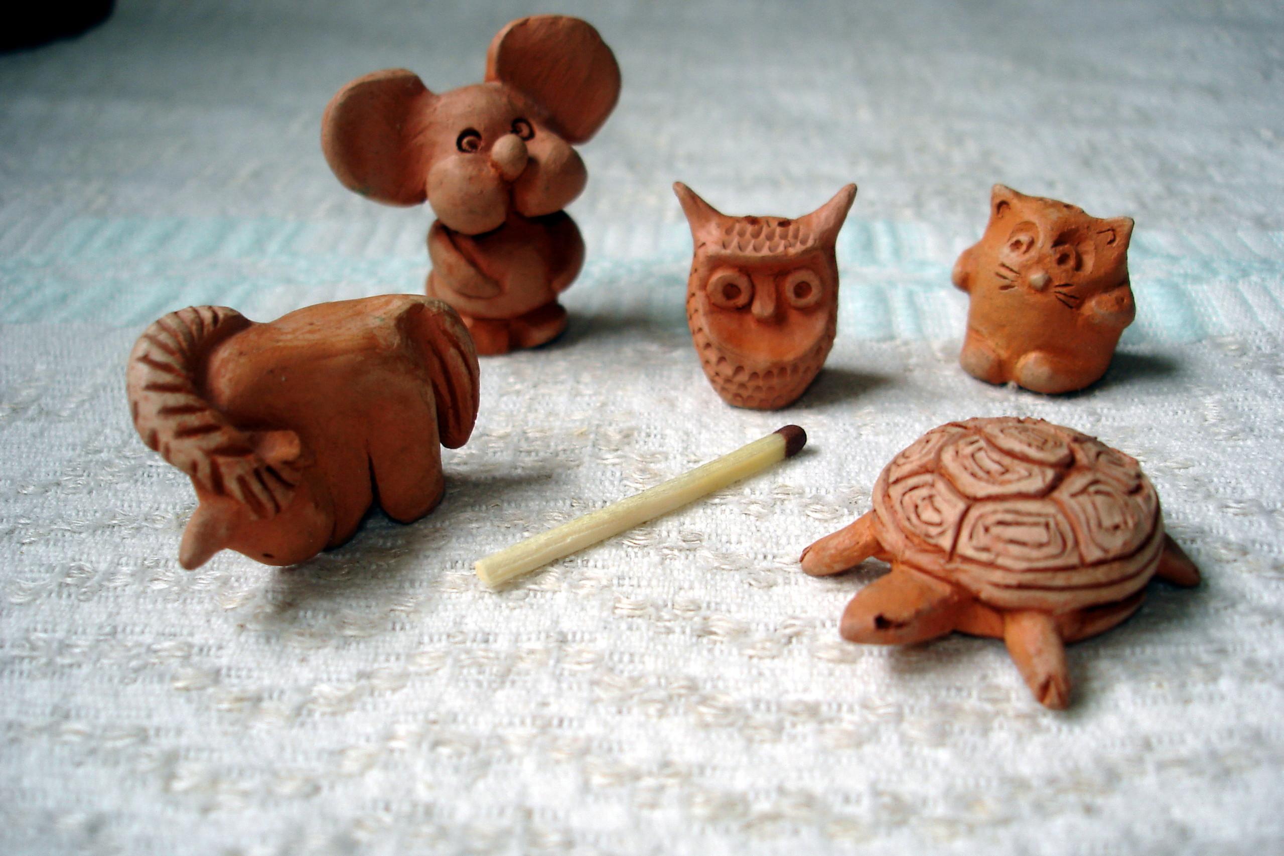 Животные из глины своими рукам