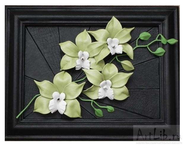 Орхидеи из кожи своими руками мастер класс 11