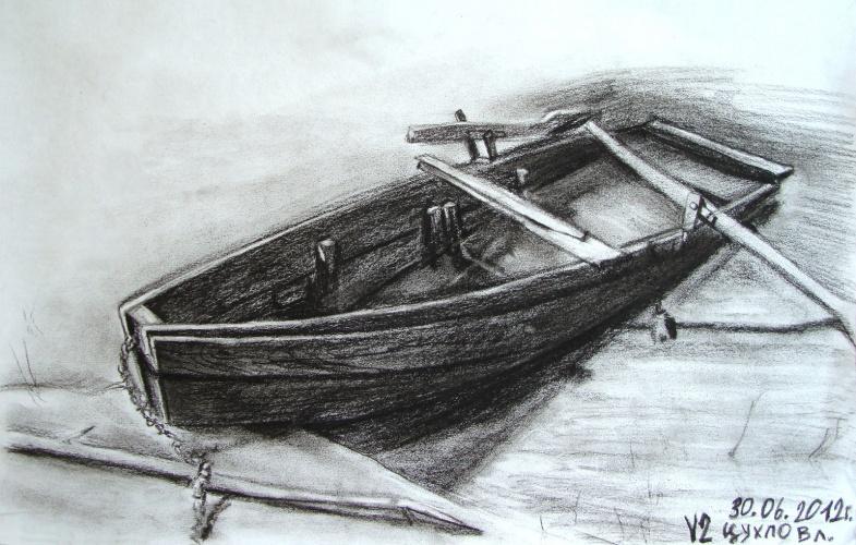 лодка на туше