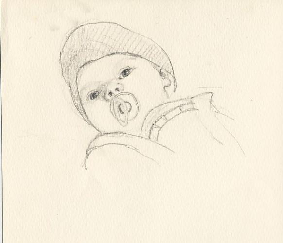 Рисунки младенца карандашом своими руками 70