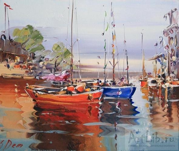 изображение лодки в живописи