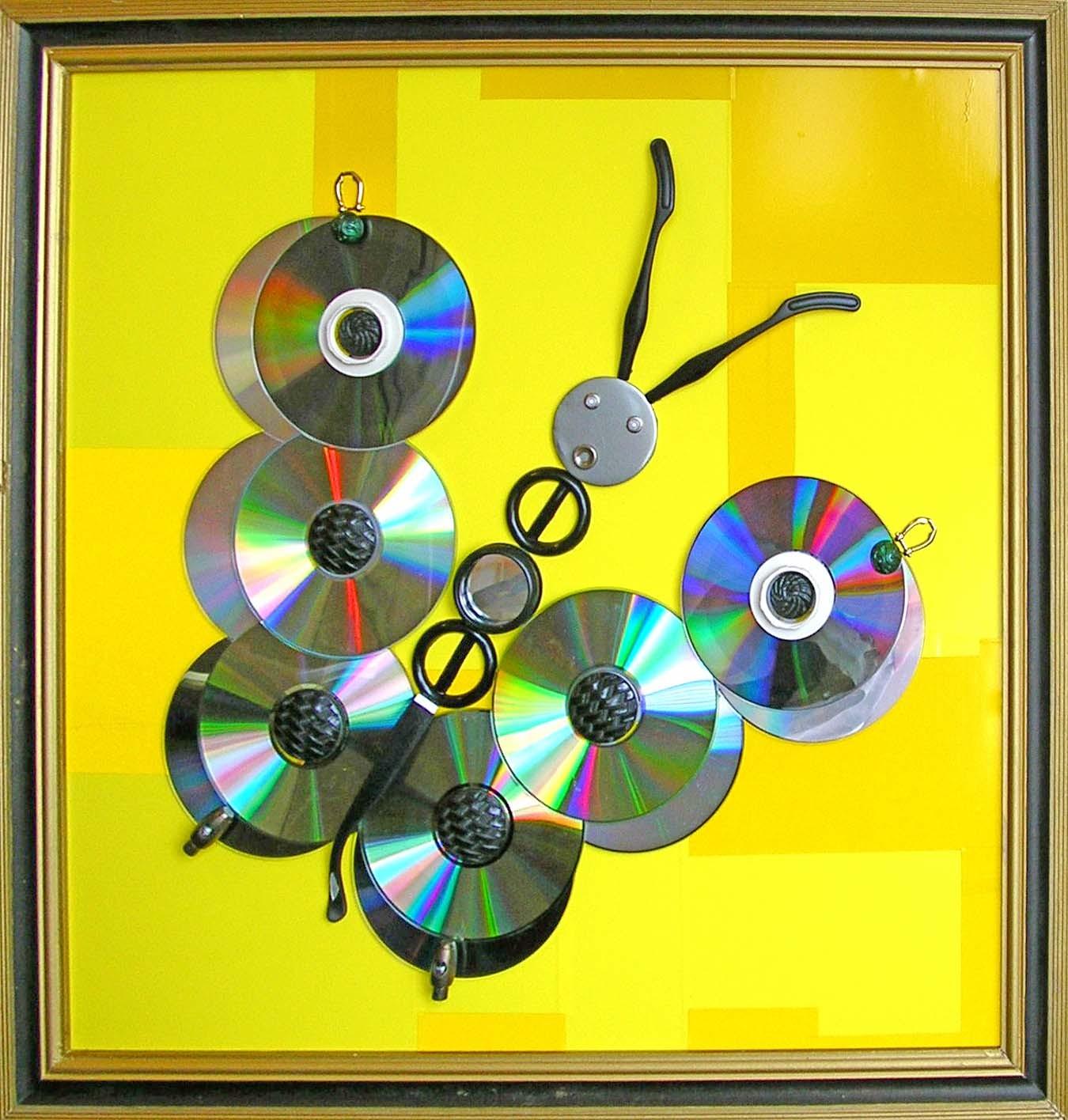 Панно из дисков своими руками фото 86