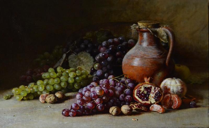 фото натюрморт с виноградом