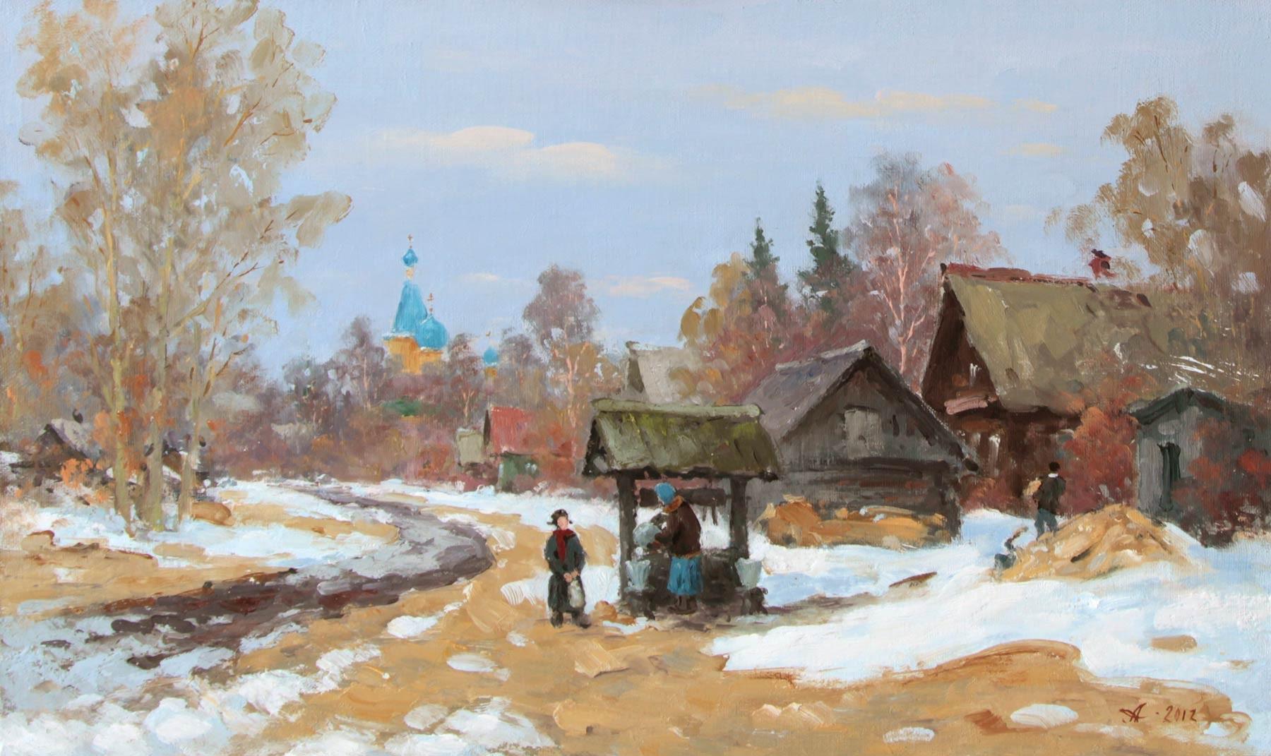 Фото старинных зимних пейзажев 4