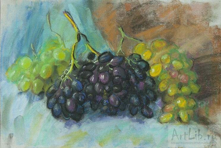 Виноград рисуют пастелью 160