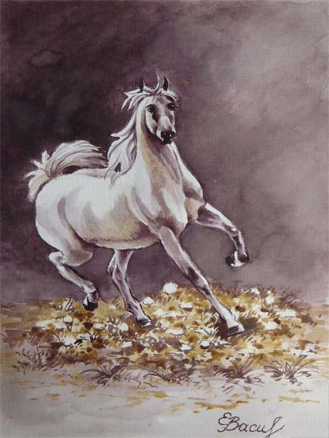 """Схема вышивки  """"Бегущая лошадь """": схема."""